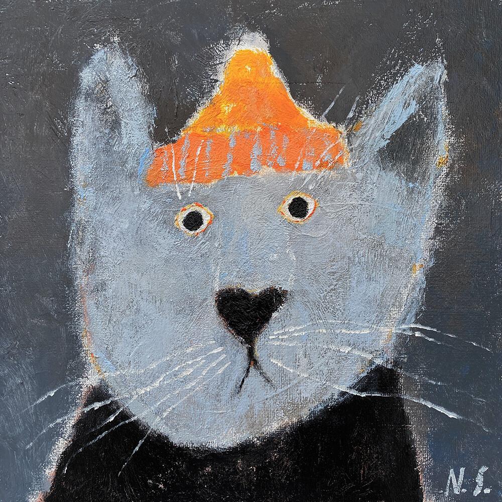 Cat in the Orange Hat – Original