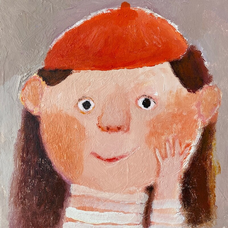 Little Girl in The Red Hat – Original
