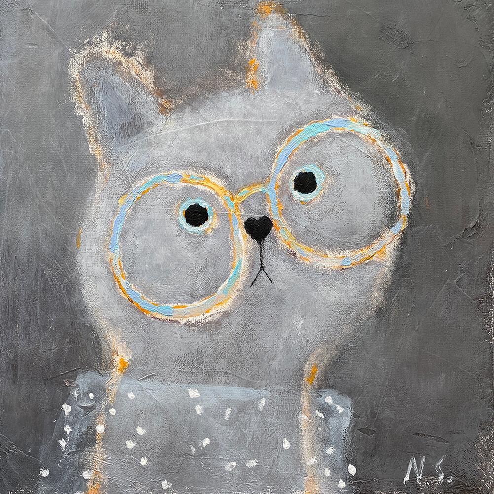 Cat with Glasses – Original