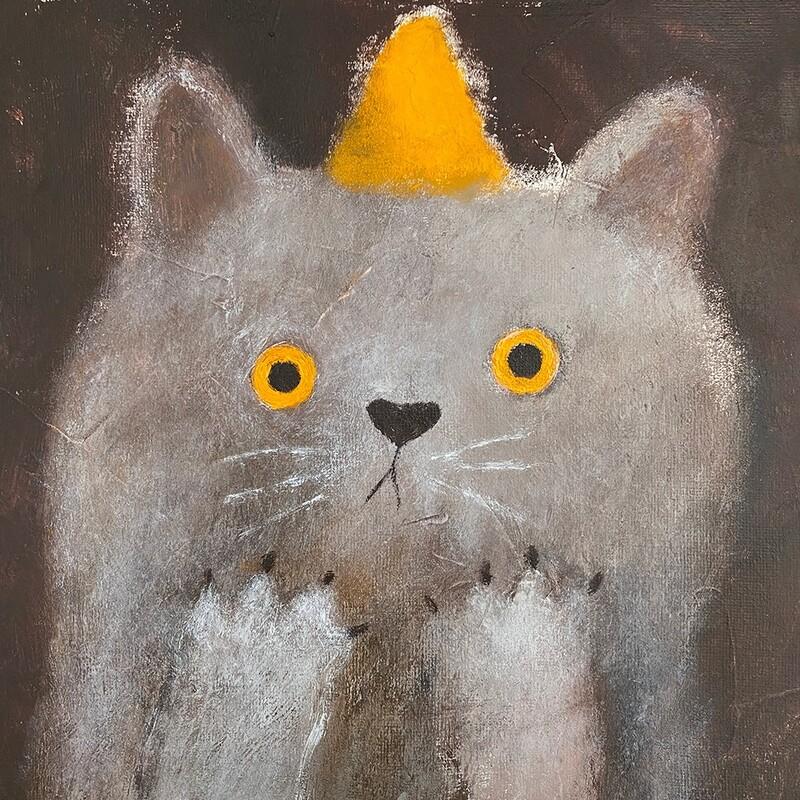 Worried Cat – Original
