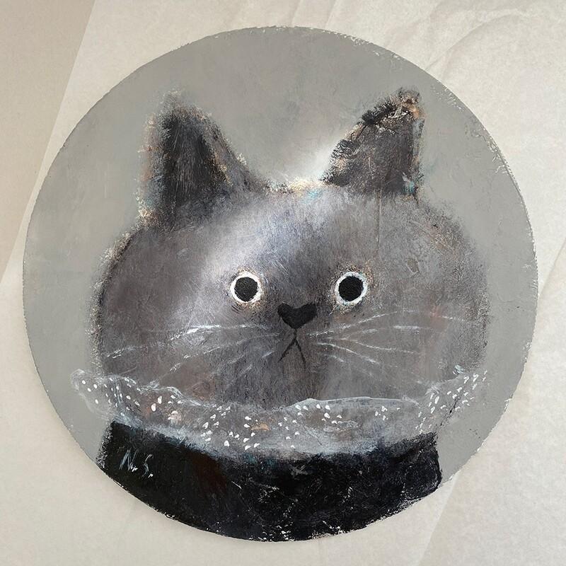 Cat with a Beautiful Collar – Original