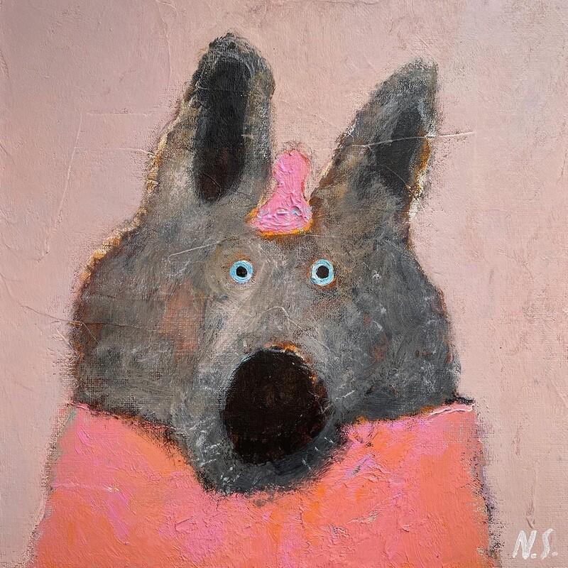 Wolf in Pink – Original