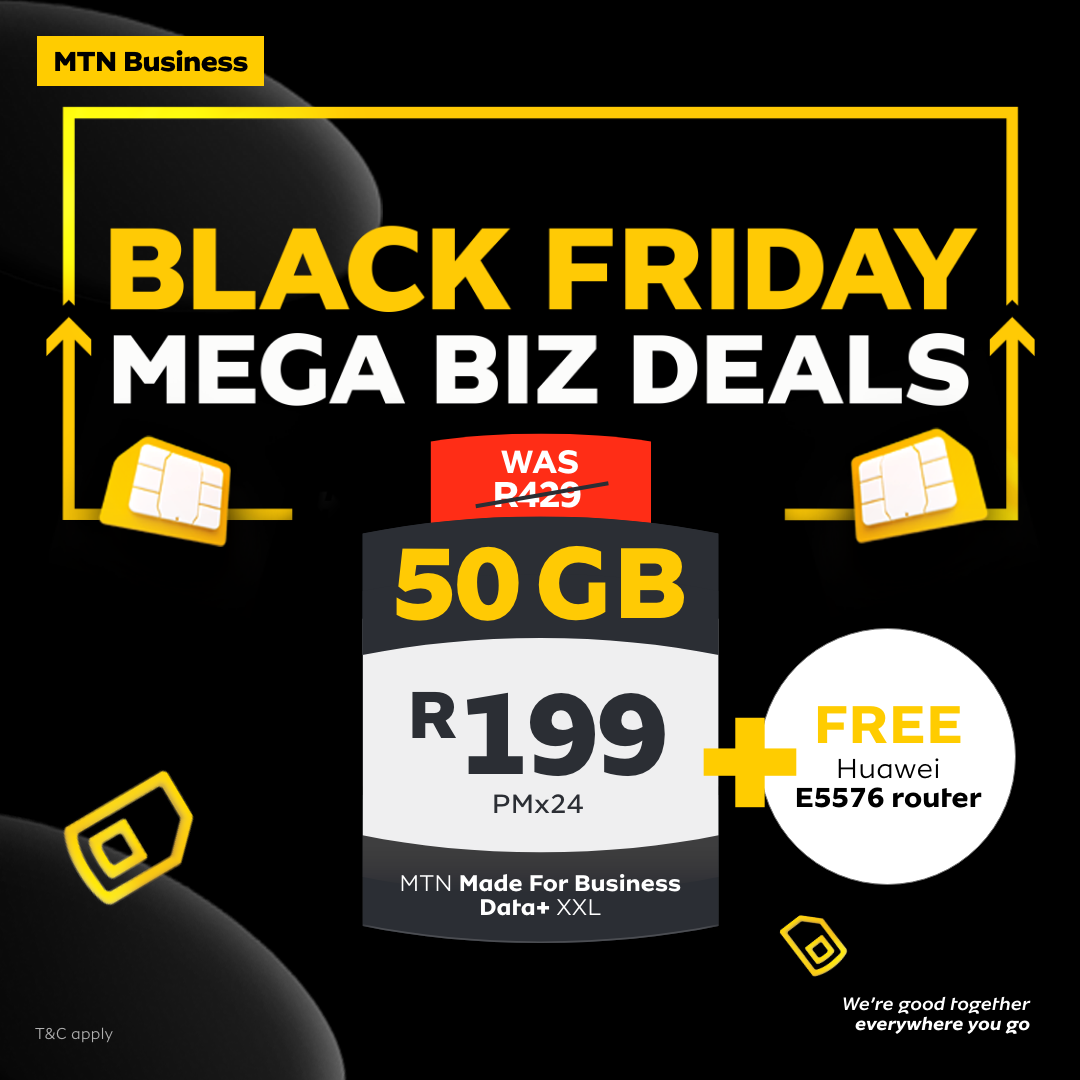 MTN Made for Business Data+ XXL & Free HUAWEI E5576 Router