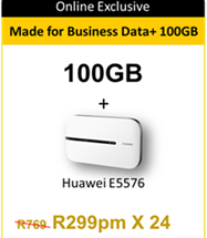 MTN Made for Business Data Pro 100GB & Free HUAWEI E5576 Router
