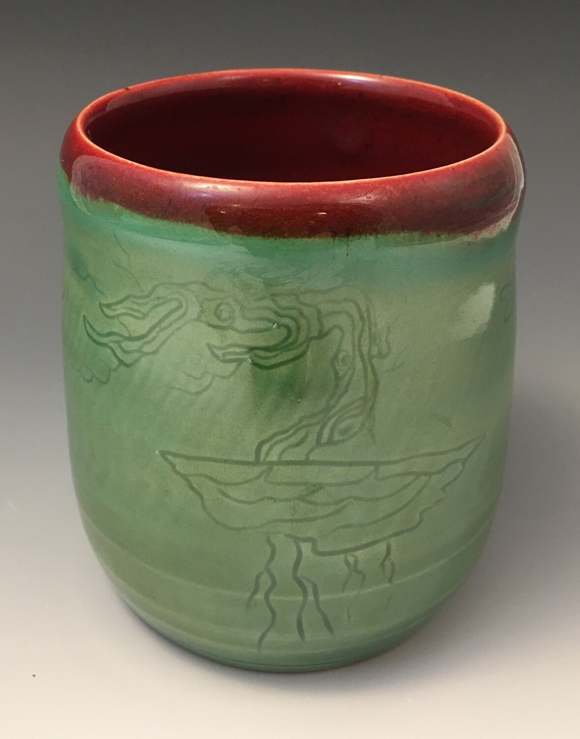 Floating Tree Cup in Green
