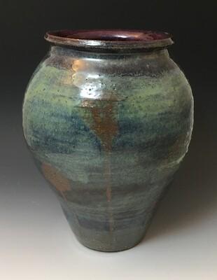 Blue, Green, Merlot, Faded Poppy Vase