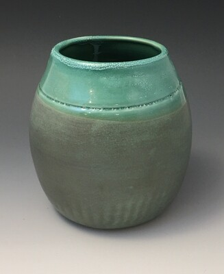 Art Deco Green Vase