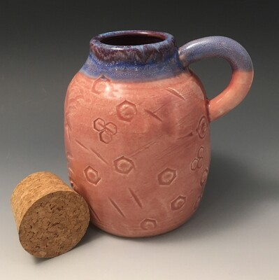 Plum and Blue, Small Jug.