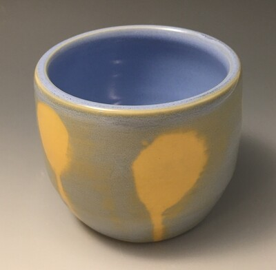 Blue and Yellow Poppy, Tea Bowl.