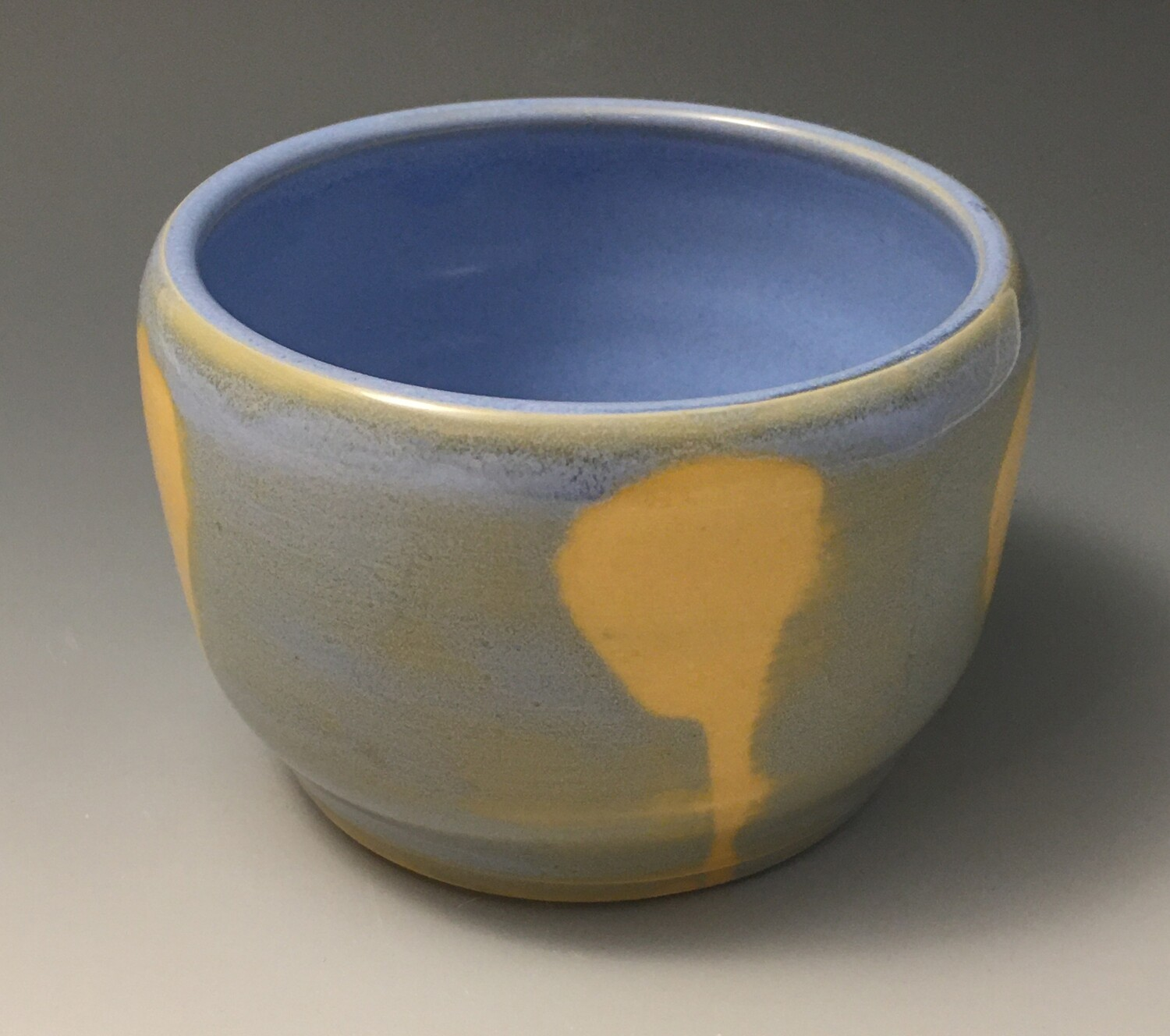 Blue and Yellow Poppy, Small Tea Bowl.