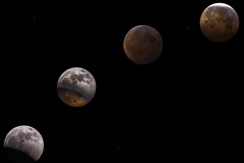 Lunar Eclipse Canvas