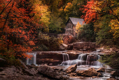 Glade Creek Grist Mill Canvas