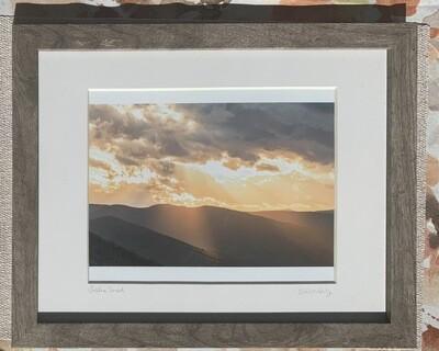 Golden Sunset Framed