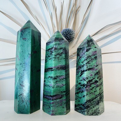 Large Ruby Zoisite Tower