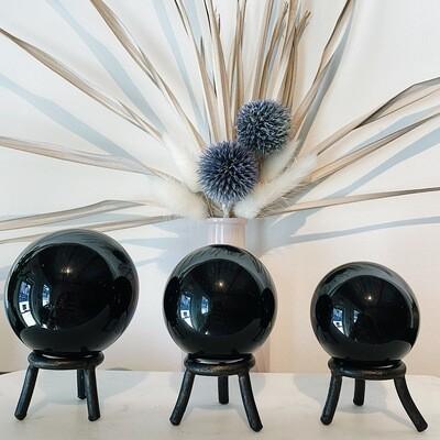 Black Obsidian Spheres