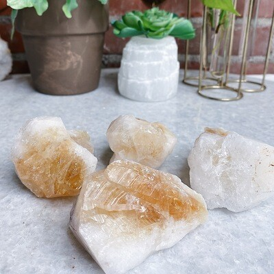"Large Raw Citrine ""Teeth"""