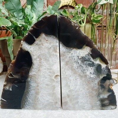 XL Brazilian Agate Bookends