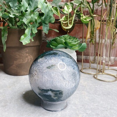 XL Large Moss Agate Sphere
