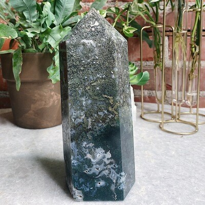 XL Moss Agate Tower