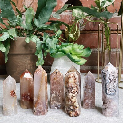 Small Assorted Flower Agate Tower