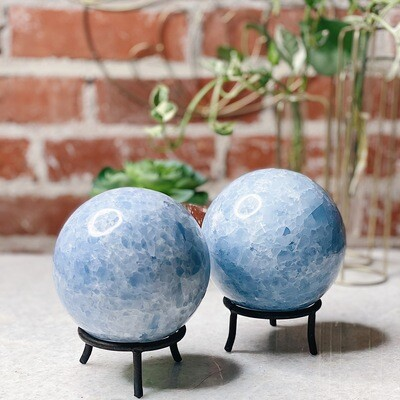 XL Blue Calcite Sphere