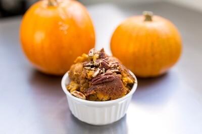 Pumpkin Spice Bourbon Bread Puddin'