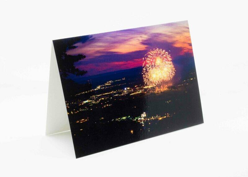 Mt. Nittany Fireworks Greeting Card
