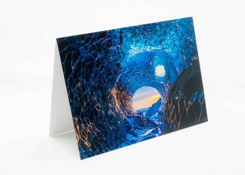 Iceland Cave Greeting Card