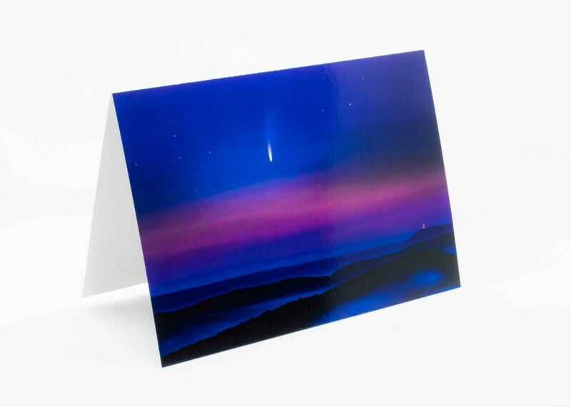 NEOWISE Over Penns Valley Greeting Card