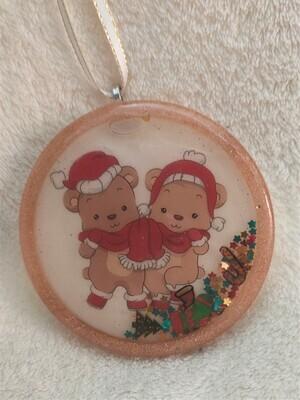 Christmas shaker ornament - Teddy Bears