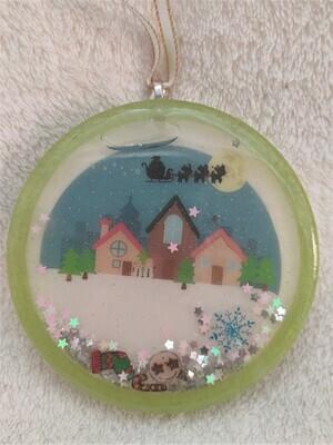 Christmas shaker ornament - village