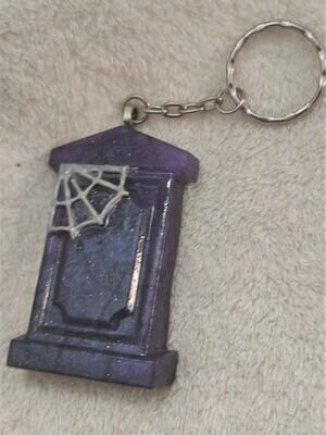 Purple Web Tombstone Keyring