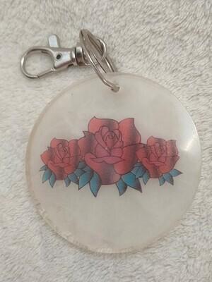 Rose Keyring - Round