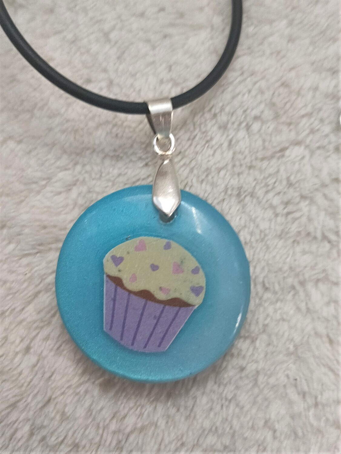 Two sided cupcake pendant