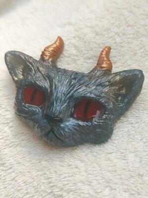 Demon Cat Brooch