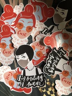 Covid Chic Stickers