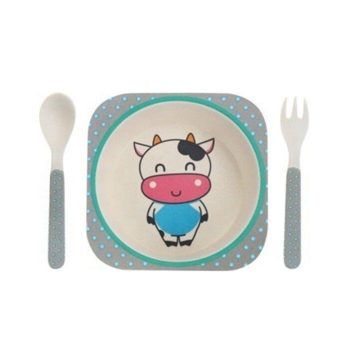 """Детский мини-набор посуды из бамбука """"Му-Му"""""""
