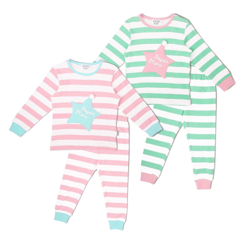 "Детская пижама ""Суперзвезда"", Зелёная, 140см"