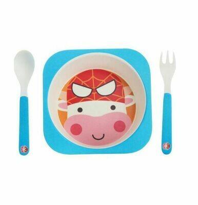 """Детский мини-набор посуды из бамбука """"Спайдер-му"""""""