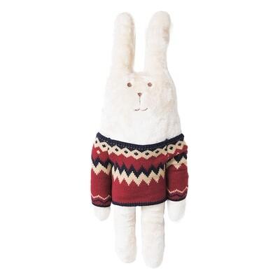 Плюшевый заяц в свитере RAB М, 74 cm