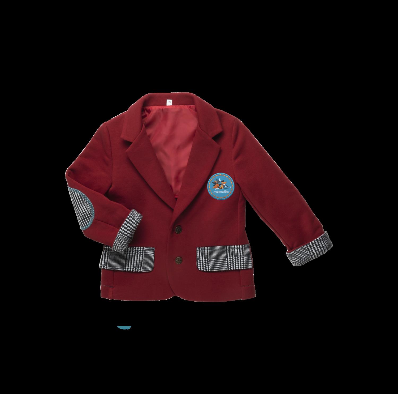 Пиджак спорт-шик (Рэд дахлиа / гусиная лапка)