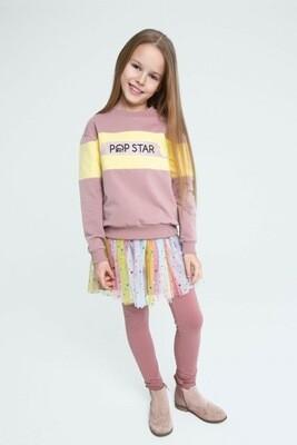 Джемпер Pop Star (Роза чиприя / Лимон)