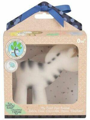 Игрушка из каучука Зебра в подарочной упаковке