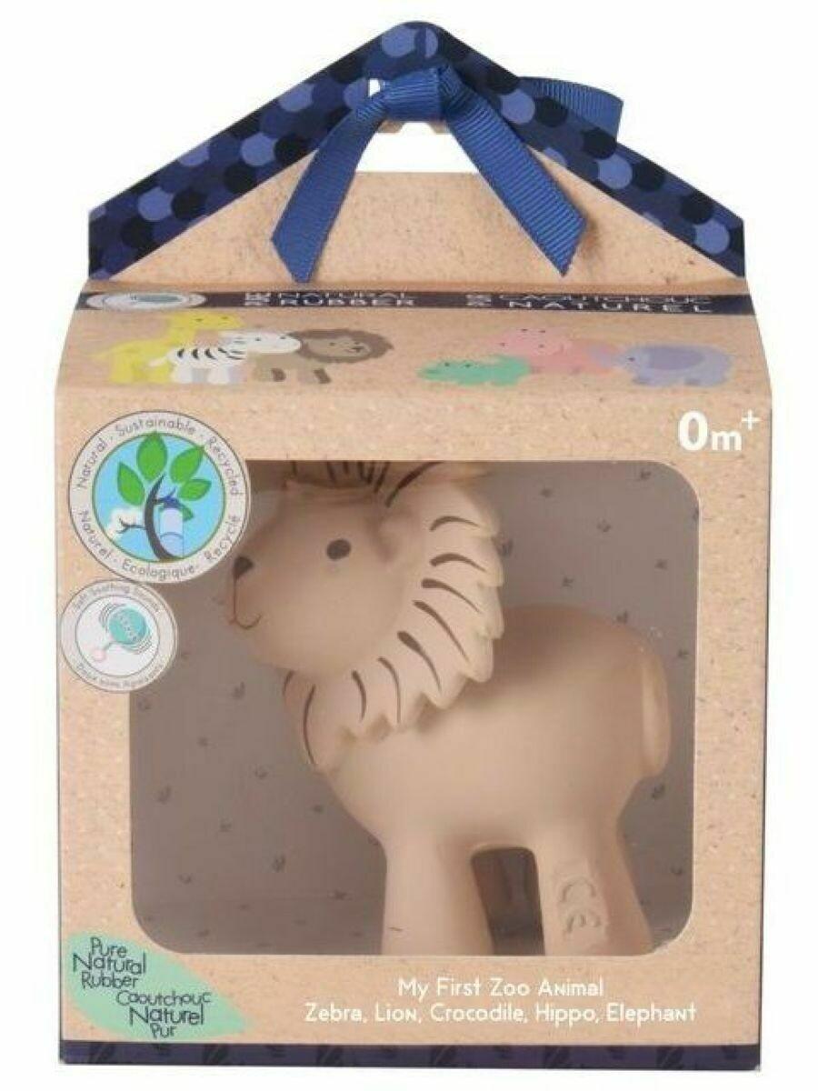 Игрушка из каучука Лев в подарочной упаковке