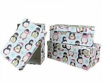 """Коробка подарочная """"Пингвины"""""""