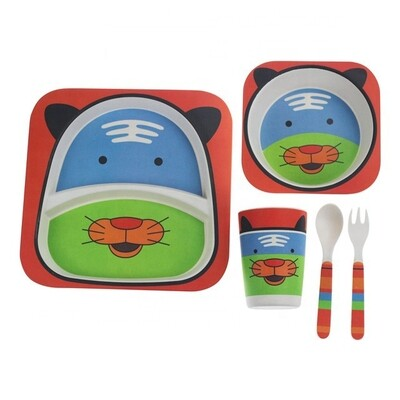 """Детский набор посуды из бамбука """"Тигра"""""""