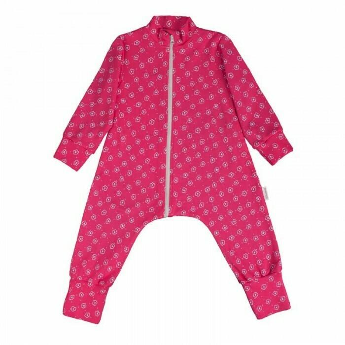 """Комбинезон-пижама на молнии легкий """"Цветочный луг"""""""