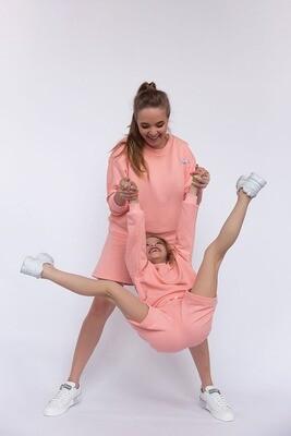 Костюмы с шортами на маму и ребенка FAMILY LOOK