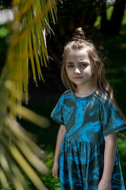Детское платье-туника тай дай для девочки