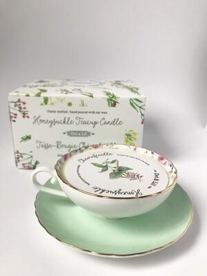 Honeysuckle Tea Cup Candle